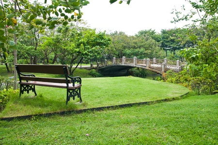 Bench in the park  Stock Photo - 12943806
