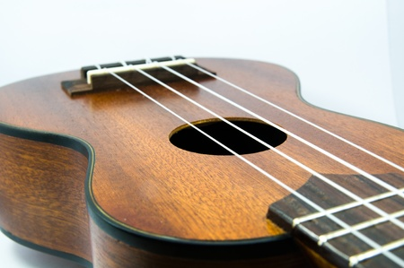 Ukulele Guitars in white background Stock Photo