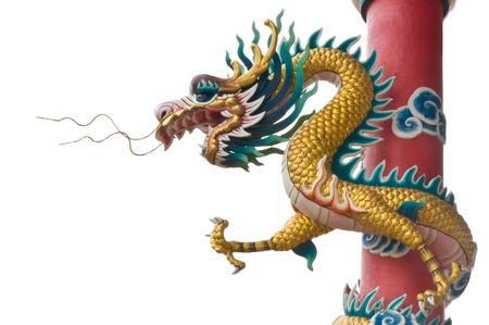 Dragon climb the pole Stock Photo - 13014768