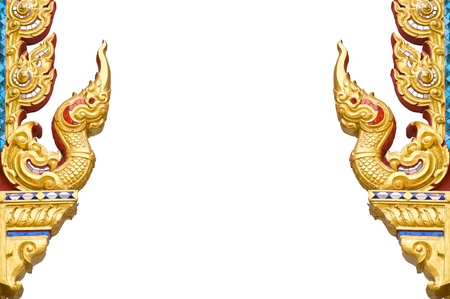 Traditional Thai style pattern on white background photo