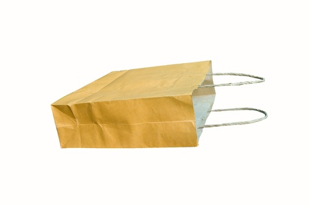Paper bag isolated on white background Stock Photo - 13149570