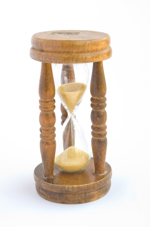 timelapse: Hourglass isolated on white