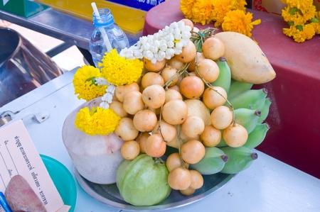 fruit for buddha photo