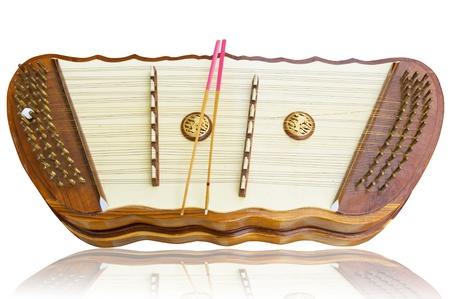 fingering: Thai wooden dulcimer musical instrument
