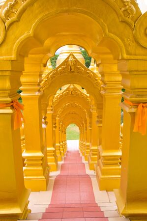 Top five hundred pagodas at beautiful in the Wat pasawangboon Saraburi, Thailand Stock Photo - 13531394