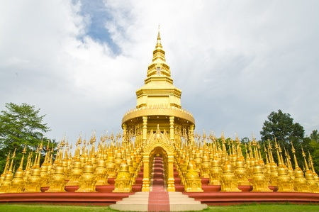 Top five hundred pagodas at beautiful in the Wat pasawangboon Saraburi, Thailand  photo