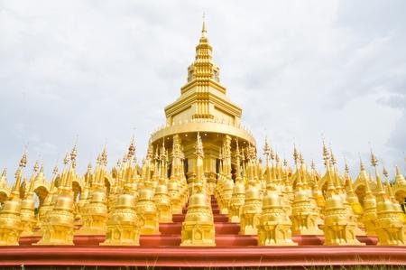 Top five hundred pagodas at beautiful in the Wat pasawangboon Saraburi, Thailand Stock Photo - 13531396