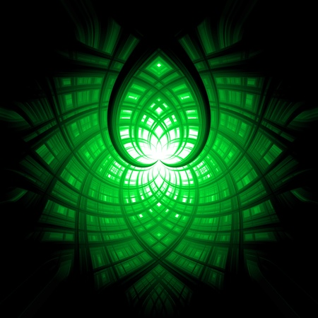 abstract background green heart Stock Photo - 13531306