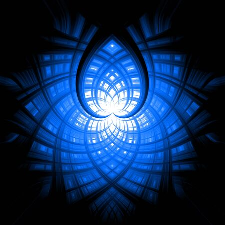 Abstract background blue white heart Stock Photo - 13531309