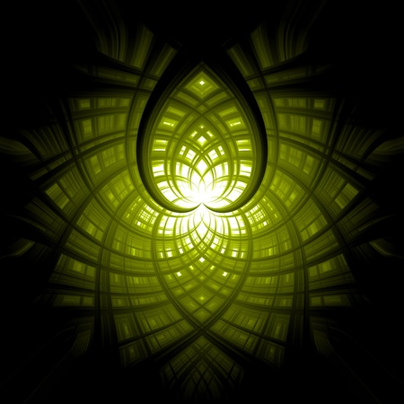 abstract background green white heart Stock Photo - 13531298