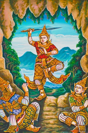 painting in temple of Emerald Buddha