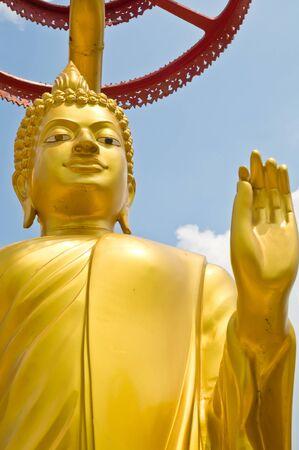 Golden Buddha statue in Thailand Buddha Temple photo