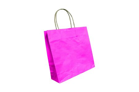 Pink paper bag Stock Photo - 13619833