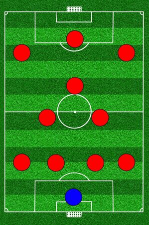 soccer field tactic 4-3-3 photo