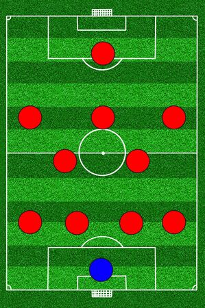 soccer field tactic 4-5-1 photo
