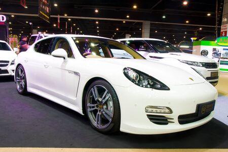 luxus: BANGKOK - May 20  Porsche Panamera Diesel Luxus car shown at Super Car   Import Car Show at Impact Muang Thong Thani on May 20, 2012 in Bangkok, Thailand