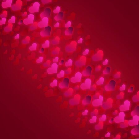 Valentine s day background with hearts  photo