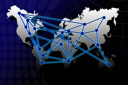 map showing the connections Stock Photo - 13754069