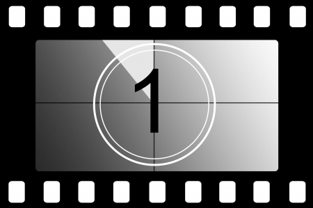 countdown: Film countdown 1 Stock Photo