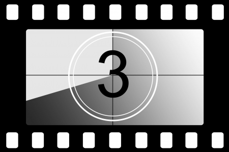 animation: Film countdown 3