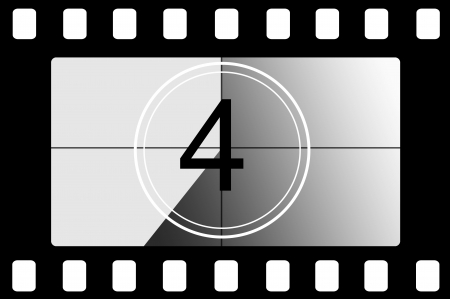 Film countdown 4 Stock Photo - 13835937