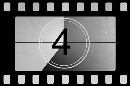 Film countdown 4 Stock Photo - 13835952