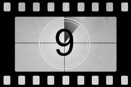 Film countdown 9 photo