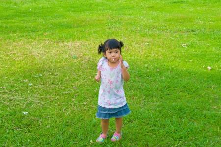 girl in park Stock Photo - 13994017