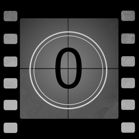 Film countdown 0 Stock Photo