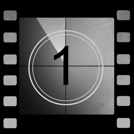 Compte à rebours Film 1 Banque d'images