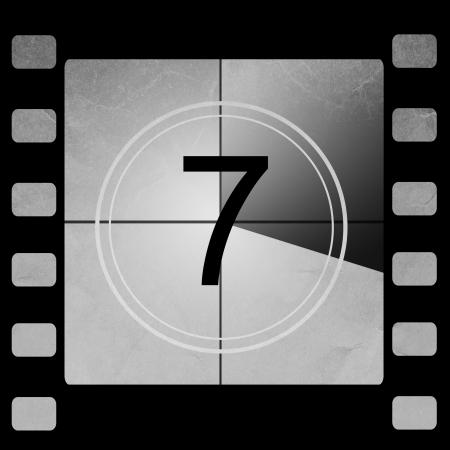 sept: Compte � rebours de film 7 Banque d'images