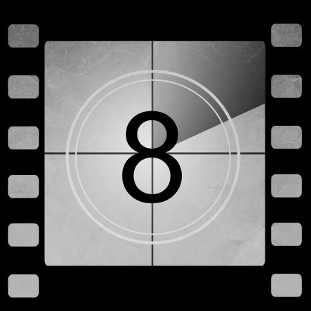 Film countdown 8 Stock Photo - 14063932