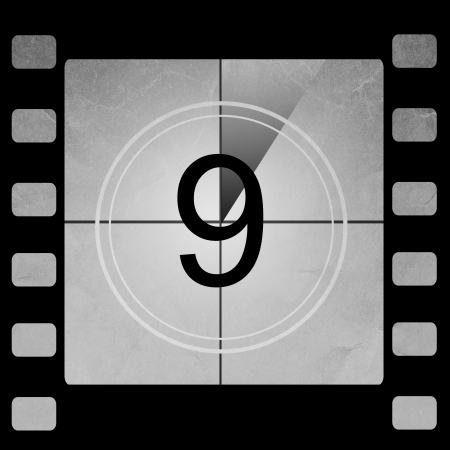 Film countdown 9 photo