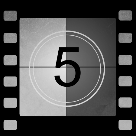 Film countdown 5 Stock Photo - 14063928