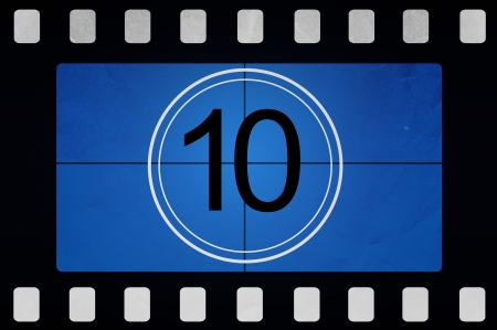 Film countdown 10 Stock Photo - 14063968