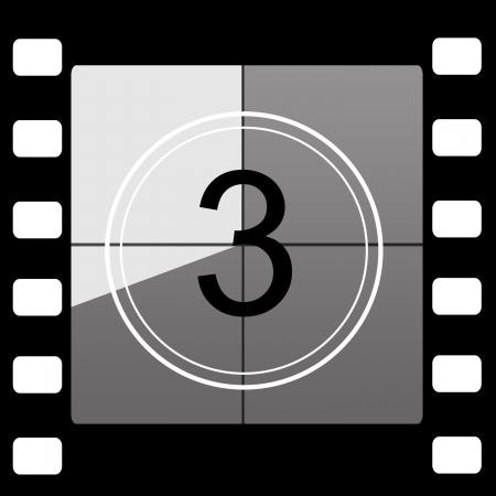 Film countdown 3 Stock Photo - 14064186