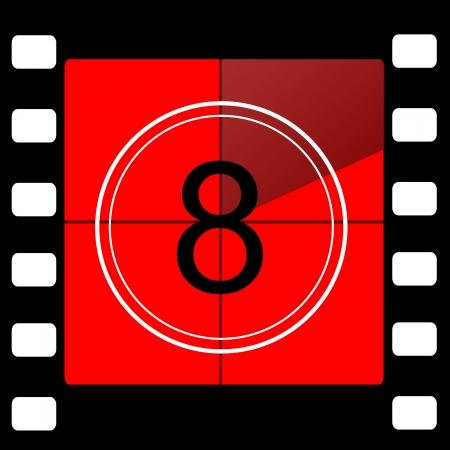 35 mm: Film countdown Stock Photo