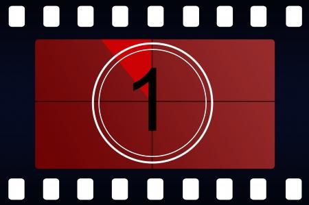 countdown: Film countdown Stock Photo