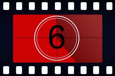 Film countdown Stock Photo - 14064212