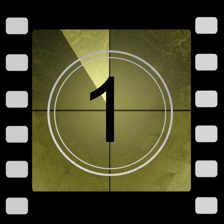 Film countdown 1 Stock Photo