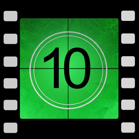 Film countdown 10 Stock Photo