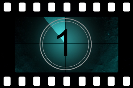 Film countdown 1 Stock Photo