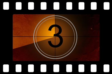 film negative: Film countdown 3