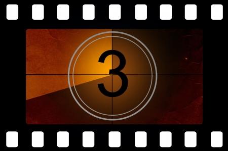 filmstrip: Film countdown 3