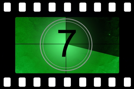countdown: Film countdown 7 Stock Photo