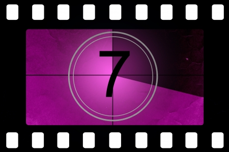 Film countdown 7 Stock Photo