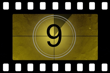 Film countdown 9 Stock Photo - 14438332