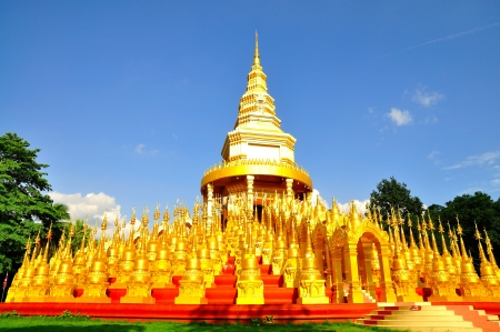 Top five hundred pagodas at beautiful in the Wat pasawangboon Saraburi, Thailand  Stock Photo - 14571470