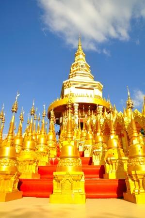 Top five hundred pagodas at beautiful in the Wat pasawangboon Saraburi, Thailand  Stock Photo - 14571451