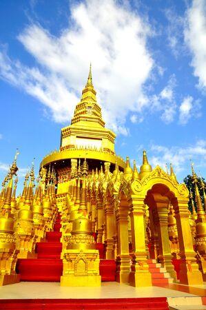 Top five hundred pagodas at beautiful in the Wat pasawangboon Saraburi, Thailand